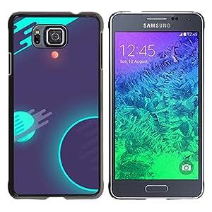 EJOY---Cubierta de la caja de protección la piel dura para el / Samsung ALPHA G850 / --Psychedelic Neon Espacio Galaxy