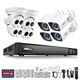 ANNKE 16-Channel POE Security Camera System 1080p/3MP/4MP/5MP/6MP/4K) Network Video Recorder and (8) 1920TVL IP Cameras, Supports up to 6TB HDD (Not Included)