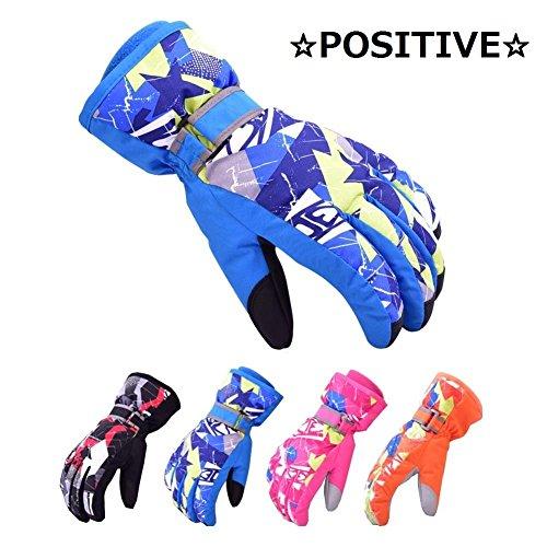 [해외]【 POSITIVE 】 어린이부터 성인까지 다양 한 사이즈! 스노우 장갑 스키 장갑 남자 여자 아이 5 손가락 방수 THERMOLITE 안 솜 소재 5 크기 로고 패키지 들 / 【POSITIVE】 Children to adults in a variety of sizes Snow Gloves Ski Gloves Men`s ...