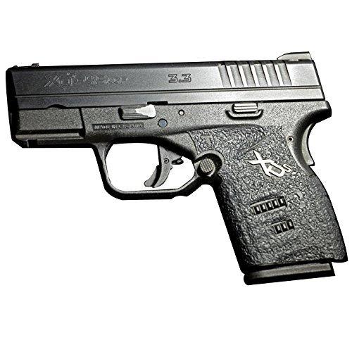 TALON Grips for Springfield XD-S 9mm/.45 (3.3-Inch barrel), Large Backstrap, Black Rubber 212R