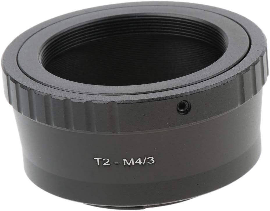 Negro perfk T2-M 4//3 T2 Teleobjetivo T-2 para Olympus Panasonic Micro 4//3 Adaptador de C/ámara para Montaje GX7 GF6 GF5 GX1 OM-D E-M1 E-M5