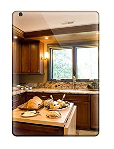 New Style DeirdreAmaya Kitchen With Granite Countertops And Drop-leaf Island Premium Tpu Cover Case For Ipad Air