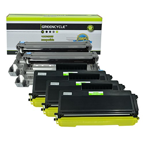 (GREENCYCLE Compatible Toner Cartridge & Drum Unit Replacement for Brother TN650 DR620 High Yield TN-650 DR-620 HL-5340D MFC-8370 (3 Black Toner & 2 Drum))