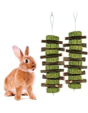 Bunny Chew Toys for Teeth, Natural Organic Apple Wood Sticks for Rabbits, Chinchilla, Guinea Pigs, Hamsters, Parrots and Other Small Animals Chewing/Playing, Improve Dental Health