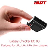 ISDT BC-8S Battery Checker with Two 85dB Buzzer OLED Screen for LiPo LiHv LiFe LiIon Batteries