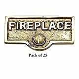 25 Switch Plate Tags FIREPLACE Name Signs Labels Brass | Renovator's Supply