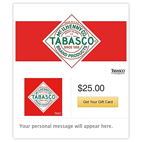 Tabasco Gift Cards - E-mail Delivery (Pay With Amazon Gift Card)