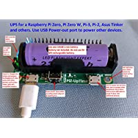 Alchemy Power Inc. - Pi-Zero-UpTime. UPS for Pi or other USB devices in a Pi-Zero size. Works with Pi Zero, Pi-3, Pi-2 etc. with 40 pin header