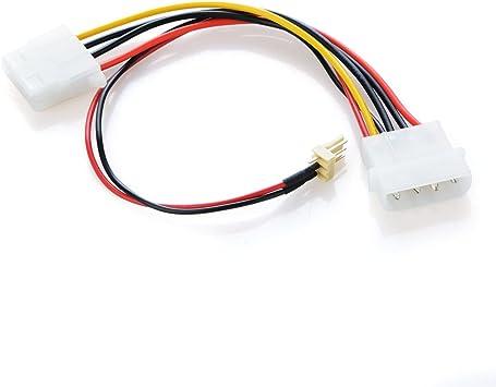 Ochoos - Cable adaptador de 3 pines a 4 pines de alimentación IDE ...