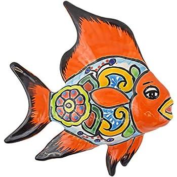 Amazon Com Avera Products Talavera Wall Angel Fish 8x11