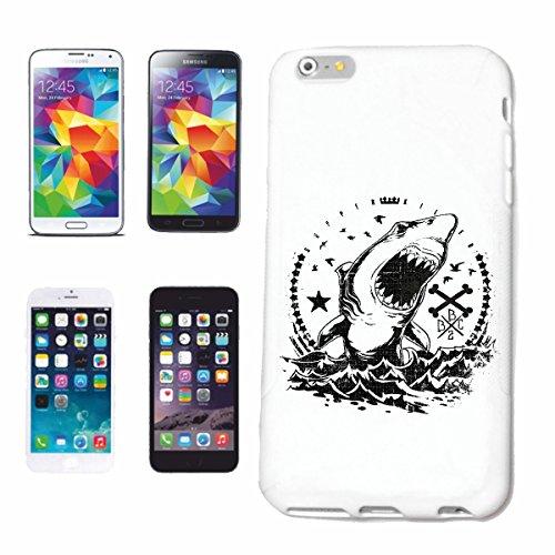 caja del teléfono Huawei P9 WHITE SHARK HAI HAI Tiburón Tiburón ATAQUE BLANCO HAI Catshark Sandhai Tiger Shark Caso duro de la cubierta Teléfono Cubiertas cubierta para el Apple iPhone en blanco