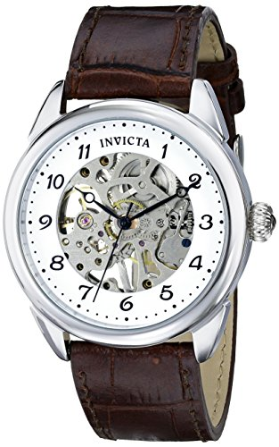 Mens Specialty Brown Dial - Invicta Men's 17187 Specialty Analog Display Mechanical Hand Wind Brown Watch