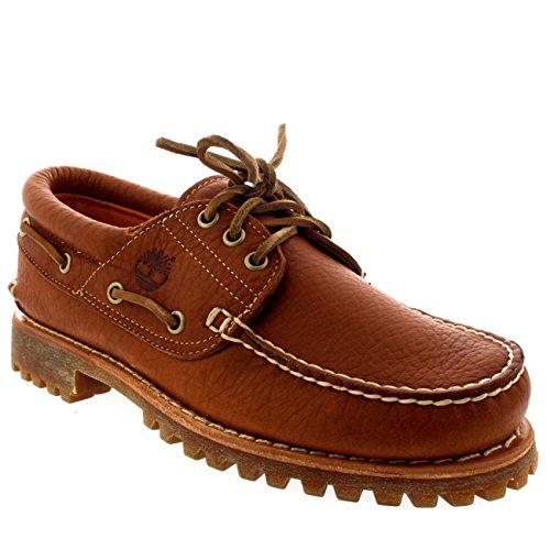 Timberland Mens Trad Heritage 3 Eye Classic Lug Claypot Deck Shoes - Claypot - (Timberland Classic 3 Eye)