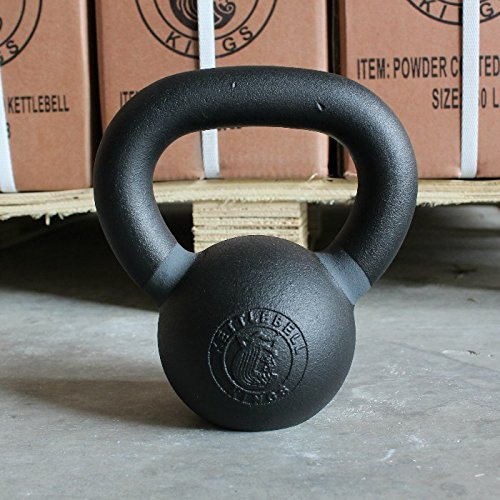 Kettlebell Kings | Cast Iron Kettlebell | Designed for Home Workouts, Swings & Strength Training (15 LB)