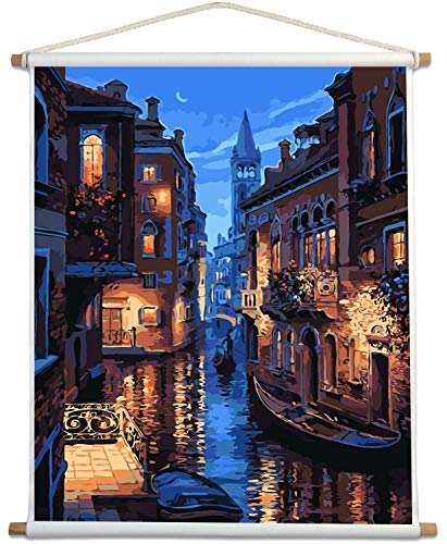 Paint by Numbers for Adults Kits with Wooden Stick The Giant Dimensions Plaid DIY Acrylic Oil Painting Kit for Adult Beginner on Canvas 16