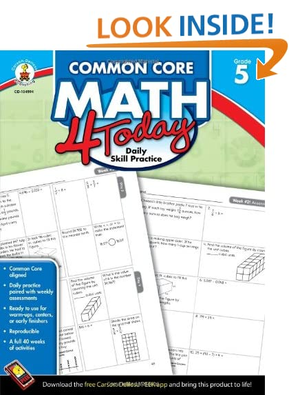 Math Worksheets common core 4th grade math worksheets : Common Core Mathematics Grade 5: Amazon.com