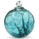 Witch Ball Hand Blown Glass (Emerald) 4 Inch