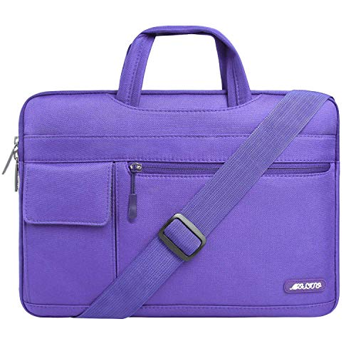 (MOSISO Laptop Shoulder Bag Compatible 13-13.3 Inch MacBook Pro, MacBook Air, Notebook Computer, Protective Polyester Flapover Messenger Briefcase Carrying Handbag Sleeve Case Cover, Ultra Violet )
