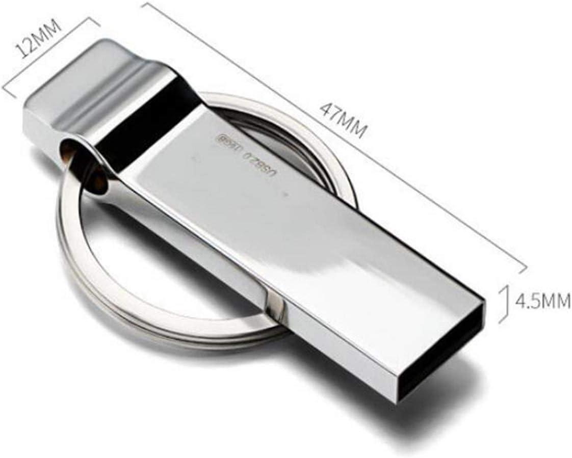 HENGTONGTONGXUN Metal Mini USB Flash Drive 64G Waterproof Flash Drive with Keychain Capacity : 8GB USB Memory Stick Durable