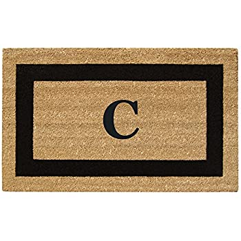 """Home  More 180071830M Garbo Extra-Thick Doormat Monogrammed 18/"""" x 30/"""" x 1.50/"""""""