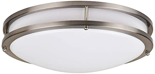 Effie 12w energy star led round nickel ceiling light amazon effie 12quotw energy star led round nickel ceiling light aloadofball Choice Image