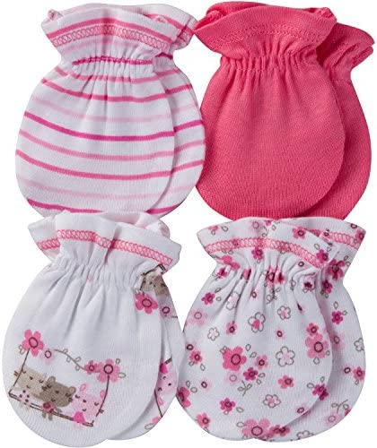 Gerber Baby 4 Pair Mittens product image