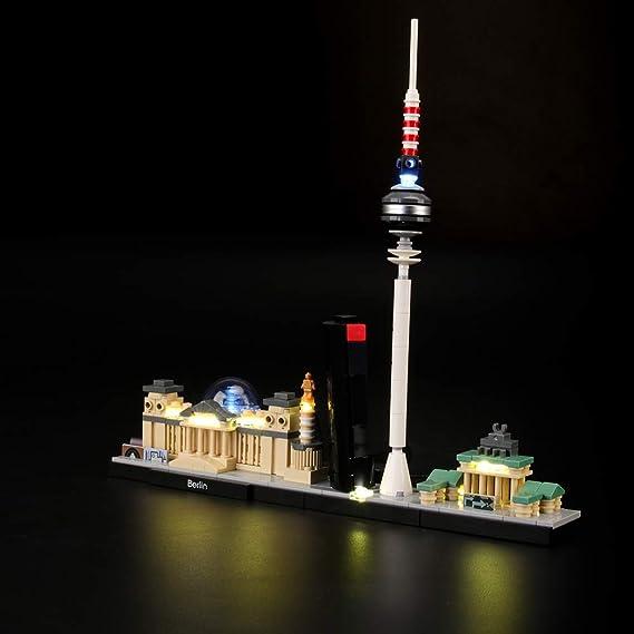LIGHTAILING Conjunto de Luces (Architecture Berlin) Modelo de Construcción de Bloques - Kit de luz LED Compatible con Lego 21027 (NO Incluido en el ...