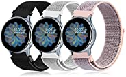 3 Pack Nylon Bands for Samsung Galaxy Watch Active 2 44mm 40mm & Galaxy Watch Active & Galaxy Watch 3