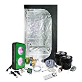 LED Grow Light Amazon Special Grow Pack by HTG - 2 x 3 (36'x22'x63') Grow Tent Package With LED + Organic Soil & Nutrients