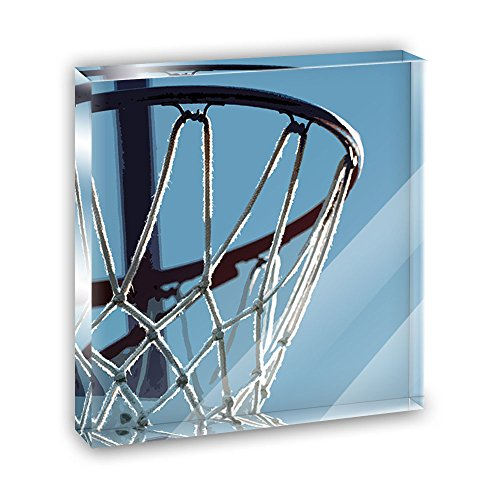 Basketball Hoop Dreaming Acrylic Office Mini Desk Plaque Ornament Paperweight