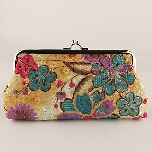 HOT Womens Small Wallet Card Holder Key Case Coin Purse Clutch Handbag Bag Pouch (Color - #4 Yellow)