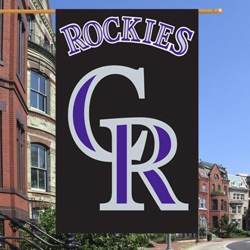 MLB Colorado Rockies Black Vertical Applique Flag