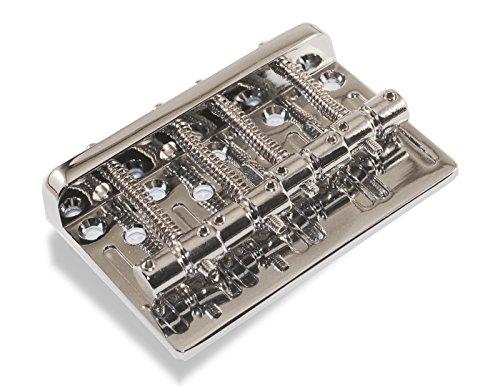 Bass Guitar Bridge 57 Millimeter 4 String Thru Body or Bridge Chrome