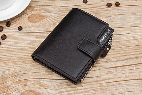 JD Million shop With coin bag High quality men's leather Wallets men Wholesale short leather wallets card holders purse for men Free Shipping