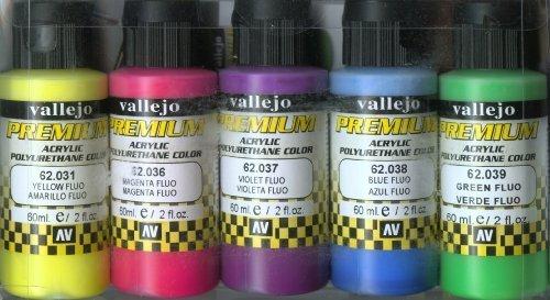 Vallejo Color Set Fluorescent Colors Premium RC Colors [並行輸入品] B01N3OIJ55