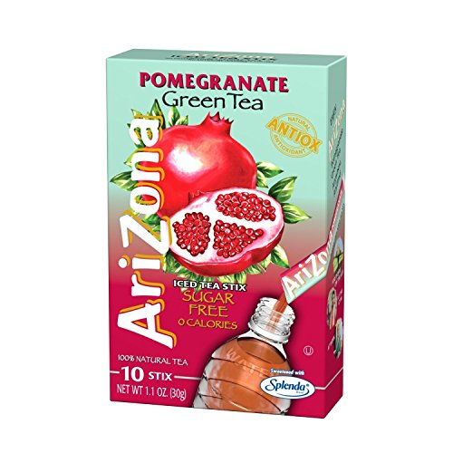 - Arizona Pomegranate Green Te Iced Tea Mix Sugar Free, 1.1 oz