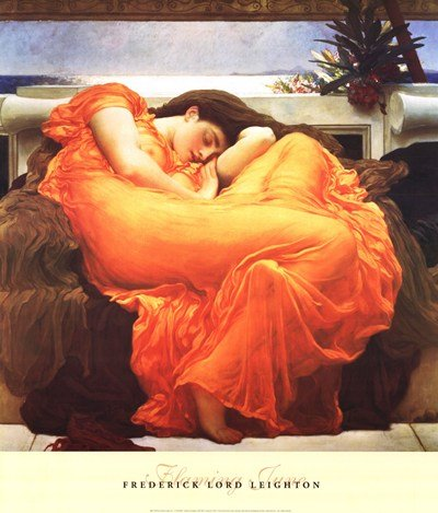 (27x32) Frederic Lord Leighton Flaming June Art Print Poster ()