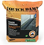 Quick Dam QD610-1 Water-Activated Flood Barrier-1 Pack, 10-ft, Black