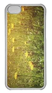 Customized iphone 5C PC Transparent Case - Yellow Flowers 8 Personalized Cover