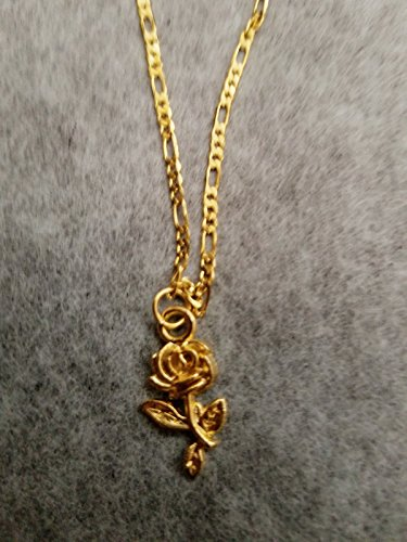 Rose charm 18kt Gold Plated chin choker//free gift