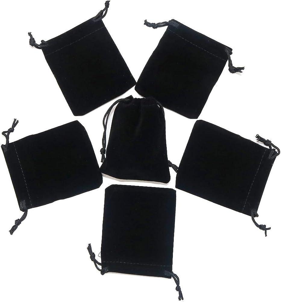 HRX Package 20 Bolsas de Terciopelo con cordón, Bolsas de Terciopelo para Joyas, Embalaje de Regalo pequeño