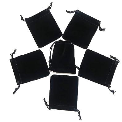 HRX Paquete de 20 Bolsas de Terciopelo con cordón para Joyas ...