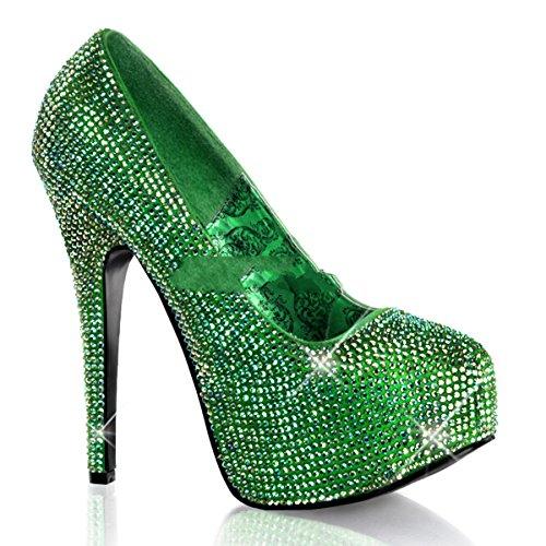 Bordello - Zapatos de vestir de satén para mujer Grün