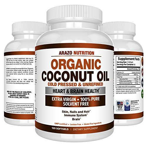Organic Coconut Oil 2000mg Nutrition product image