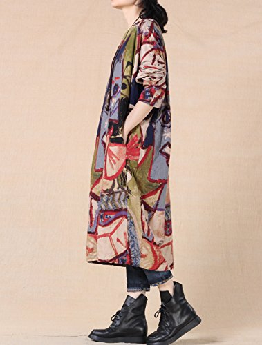 Green Fashion Women's with Print Minibee Pockets Clothing Print Abstract Random SZ1zp