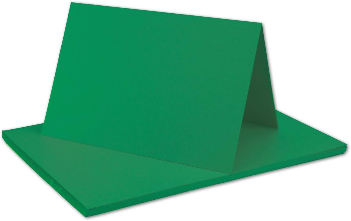 Serie FarbenFroh/® 14,8 x 10,5 cm Faltkarten Set mit Brief-Umschl/ägen DIN A6 // C6 in Tannengr/ün 25 Sets Premium Qualit/ät