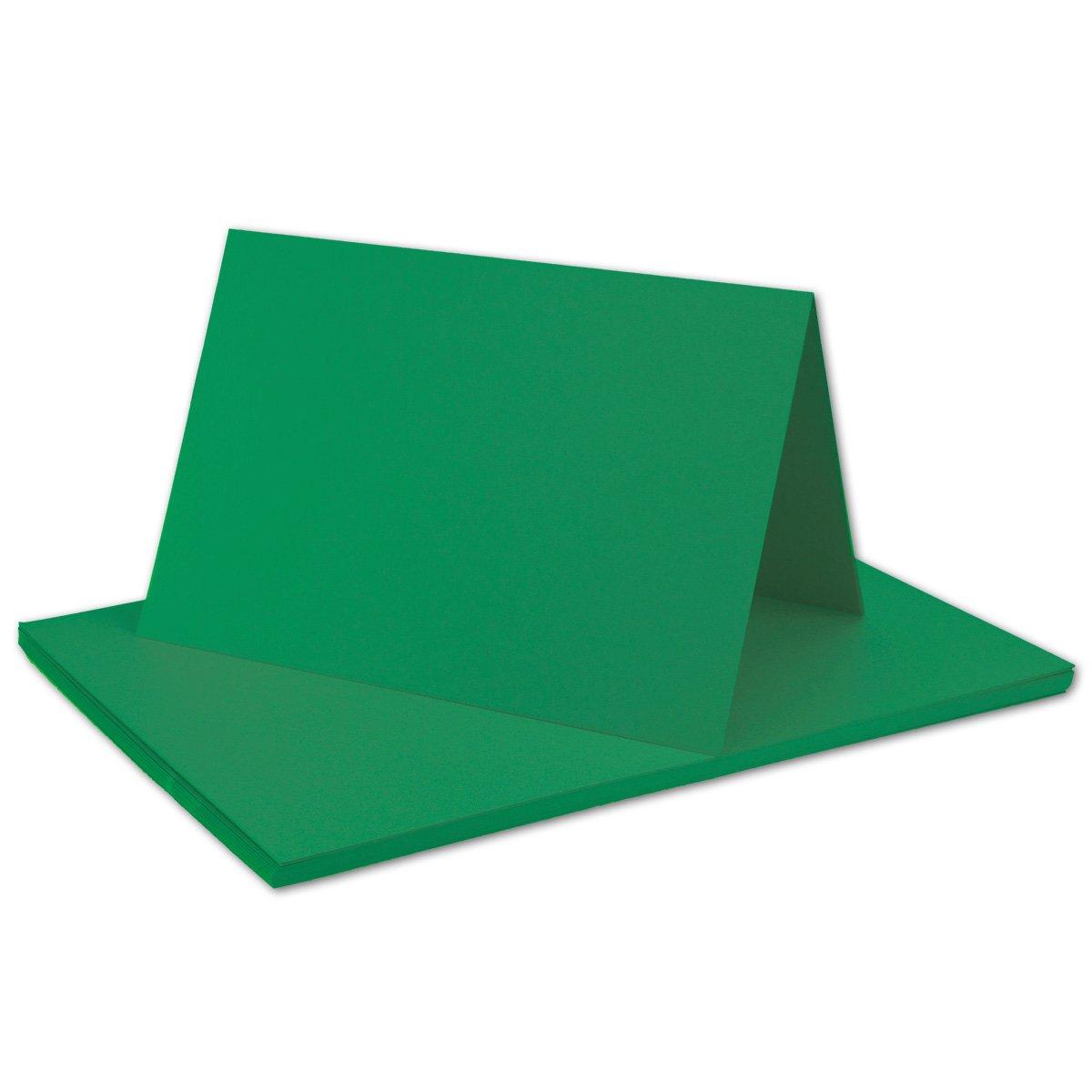 250x Falt-Karten DIN A6 Blanko Doppel-Karten in Hochweiß Kristallweiß -10,5 x 14,8 cm   Premium Qualität   FarbenFroh® B079VFTXWP | Preisreduktion