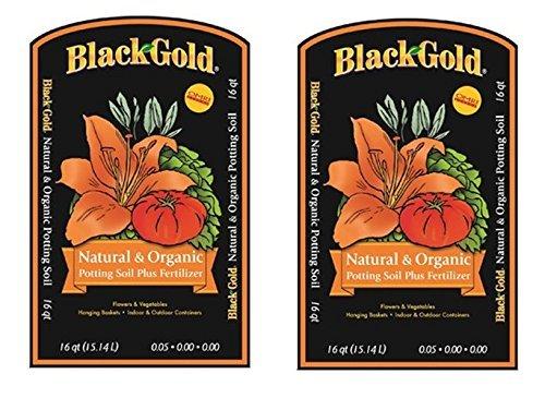 Black Gold 1302040 16-Quart All Organic Potting Soil cRnSuKU, 16 quart bag, 2 bags by Black Gold