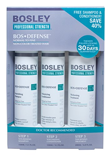 Bosley Professional Strength BOSDefense Starter Pack for Fine to Normal Hair