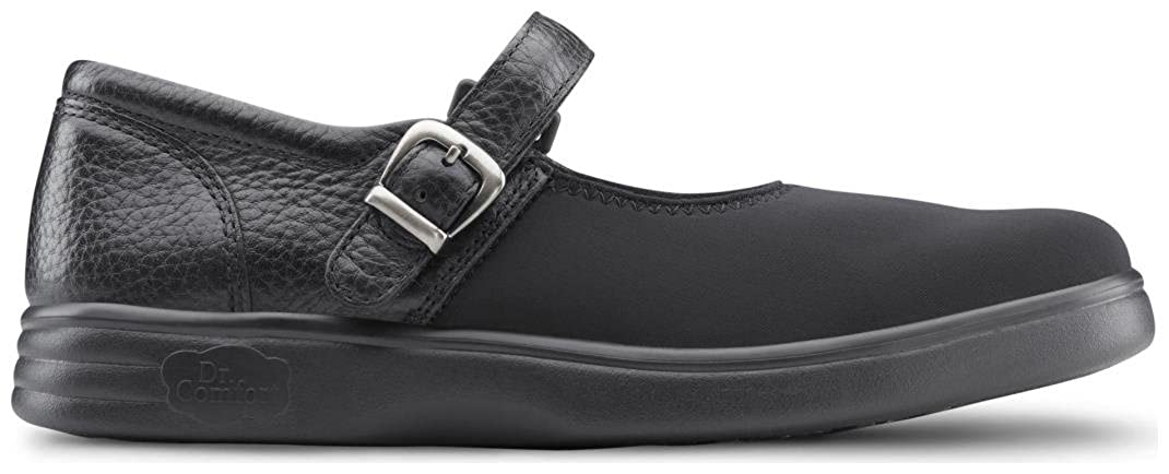 Dr Comfort Womens Merry Jane Lycra Stretchable Diabetic Mary Jane Shoes